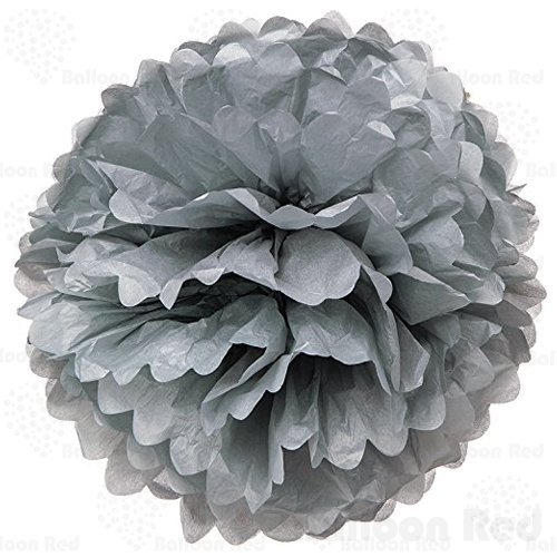 4 Inch Tissue Paper Flower Pom Poms, Pack of 5, (Homemade Yard Halloween Decorations)