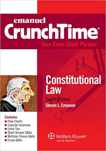 Amazon Emanuel Crunchtime Constitutional Law Twelfth Edition