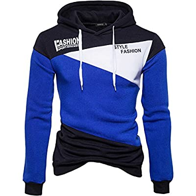 Wholesale Nidicus Mens Casual Color Matching Varsity Drawstring Hoodie Pullover supplier