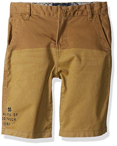 Lucky Brand Big Boys' Flat Front Twill Shorts, Ermine, 16