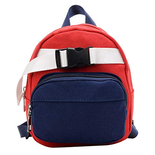 Kids Backpack Toddler, Amiley Backpack for Kids Girls Toddler Buckle Cross-Over School Bookbags Kindergarten Elementary Preschool Bag (Red)
