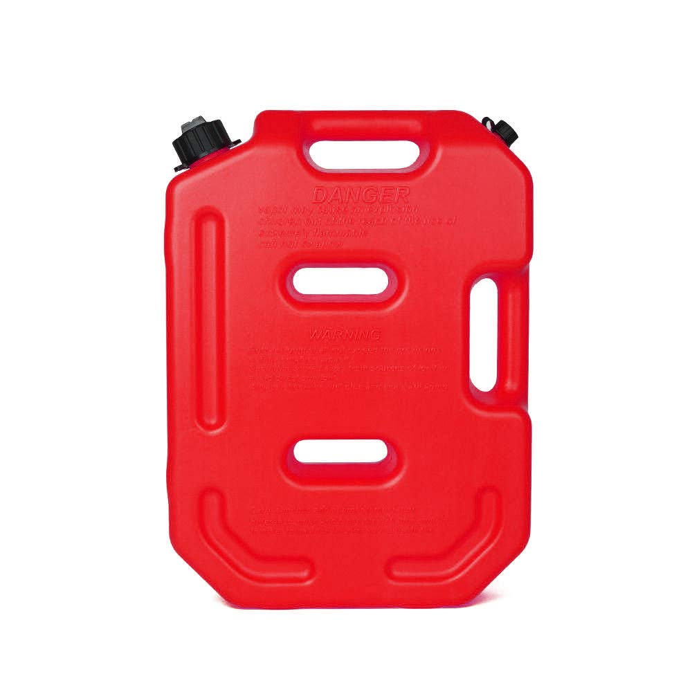 YOUNGFLY 10L Fuel Tank Cans Spare 2.5 Gallon Portable Fuel Oil Petrol Diesel Storage Gas Tank Emergency Backup for SUV ATV UTV Car Air Diesel (red,10L)