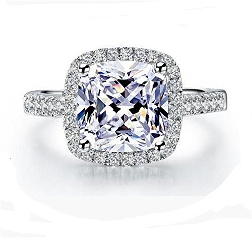 RC6 Top Grade High Quality 2 Carat Square Radiant Emerald Cushion Cut SONA...