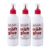 Mont Marte PVA Craft Glue Fine Tip 250g-3 Pack