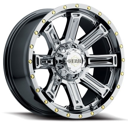 Gear Alloy Switchback 18 PVD Chrome Wheel / Rim 6x135 & 6x5.5 with a 18mm Offset and a 108 Hub Bore. Partnumber 738V-8906818