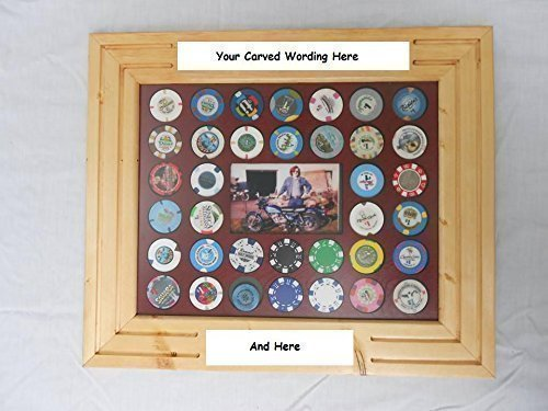 Used, Customized Poker Chip Display Frame, engraved antique for sale  Delivered anywhere in USA