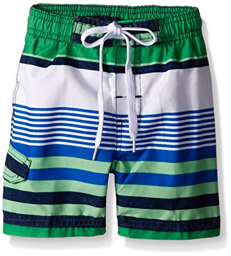 Kanu Surf Toddler Boys Optic Stripe Swim Trunks, Green, 4T