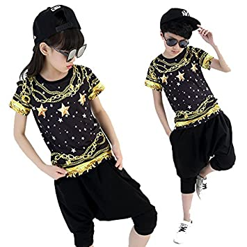 3126b563c Moyuqi Children Jazz Street DancewearGirl And Boy Dancewear Hip Hop Stage  Costumes (170cm): Amazon.co.uk: Sports & Outdoors