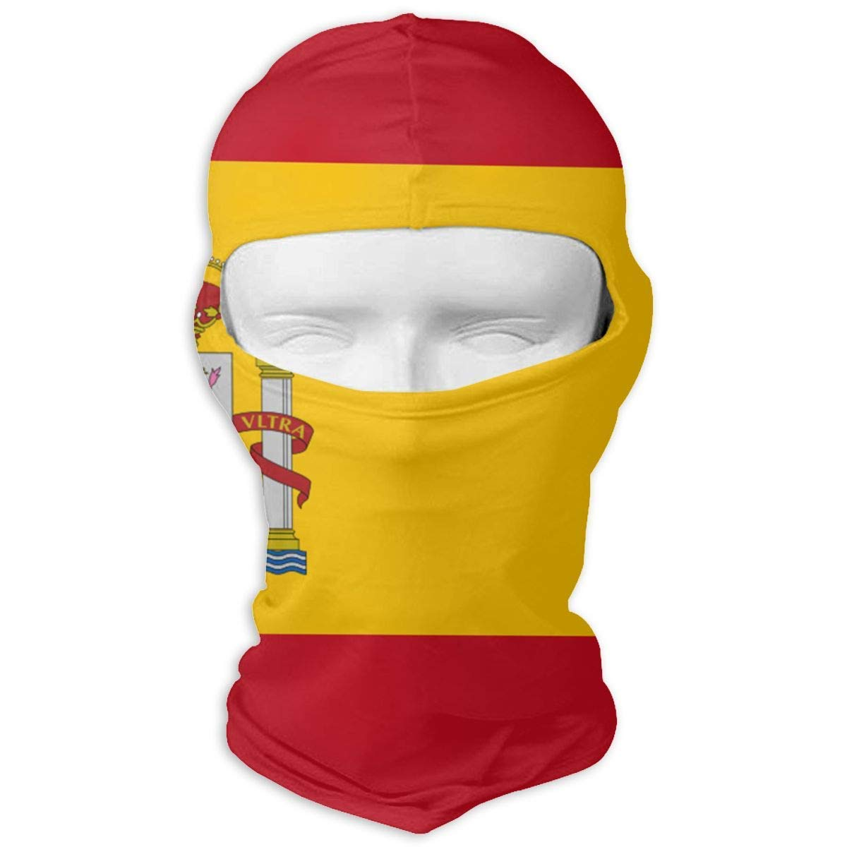 JOJOLASQ Spanish Flag Hood Motorcycle Cycling Fishing Face Mask