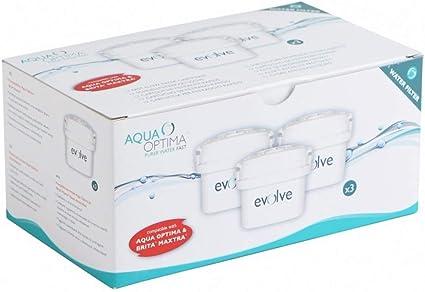 3 Cartucce Filtro Acqua Aqua Optima Evolve UNIVERSALE CARTUCCIA 3 mesi