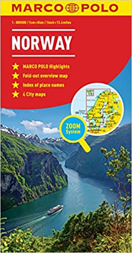 Norway Marco Polo Map Marco Polo Maps Amazoncouk Marco Polo - Norway map uk