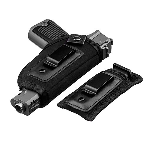 JetSur IWB Holster|Hand Gun Holster for Concealed Carry with Magazine Holster| Fits all firearms S&W M&P Shield 9/40 1911 Taurus PT111 G2 Sig Sauer Glock 19 17 27 43 (Best Holster For Ruger P95)
