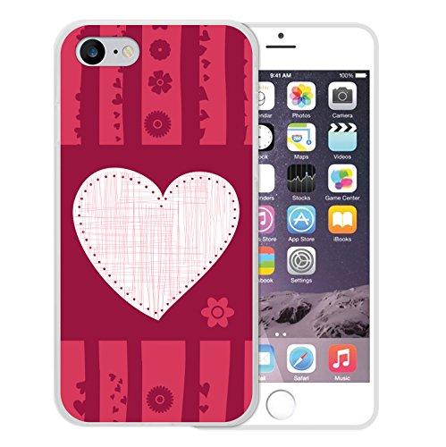 WoowCase Hülle Case für [ iPhone 7 ] Handy Cover Schutzhülle Liebesherz
