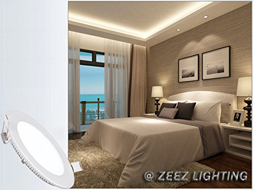 ZEEZ Lighting - 25W 11'' (OD 11.75'' / ID 10.75'') Round Cool White Dimmable LED Recessed Ceiling Panel Down Light Bulb Slim Lamp Fixture - 10 Packs by ZEEZ (Image #7)