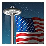 Flag Pole 26 LED Solar Powered Automatic Light Night Super Bright Flagpole US
