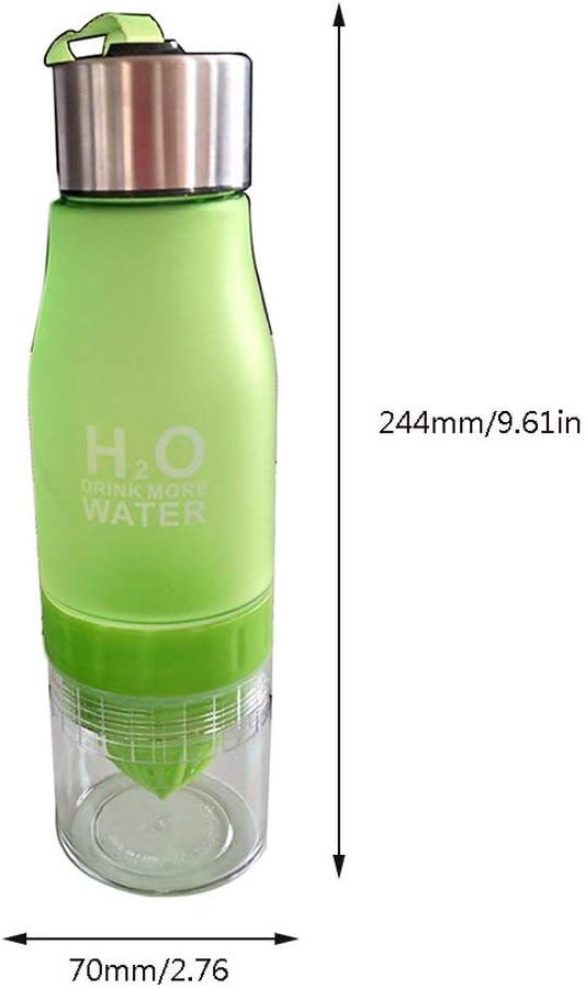 Dynamovolition Manual Juicer Water Bottle Plastic Fruit Infusion Bottle Infuser Drink Outdoor Sports Juice Lemon Portable Water Bootle