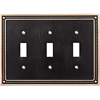 franklin brass w35066vbcc classic beaded triple toggle switch wall plate switch