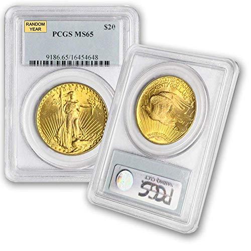 1907-1933 (Random Year) Gold Saint Gaudens Coin $20 MS65 PCGS