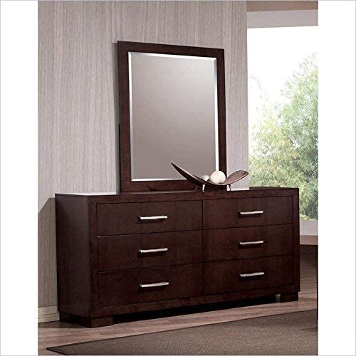 home, kitchen, furniture, bedroom furniture,  dressers 12 picture Jessica 6-Drawer Dresser Cappuccino promotion