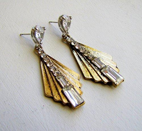 Handmade Earrings in Art Deco Design