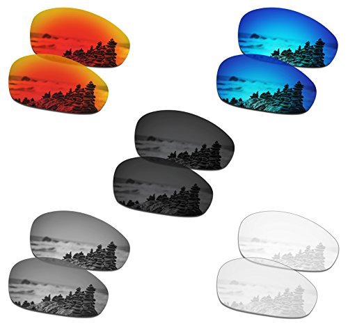 SmartVLT Set of 5 Men's Replacement Lenses for Oakley Juliet Sunglass Combo Pack S01