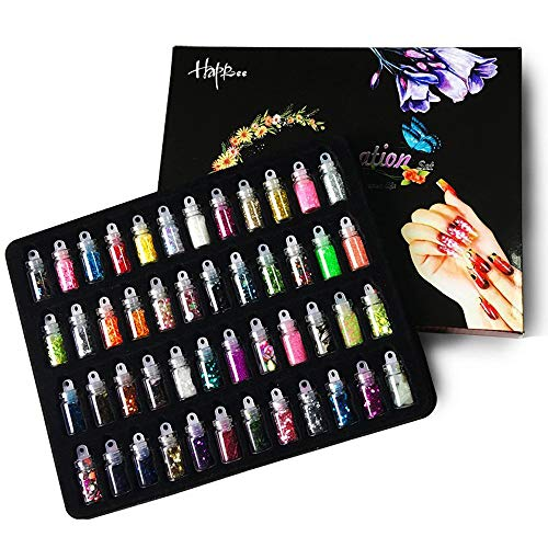 Happlee Slime Supplies Kit 3D Nail Art Decoration Scrapbooking Face Nail Eye DIY Craft Drawing Slime Making (48 Bottles) -