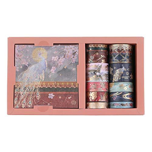 Set de cintas washi y hojas adhesivas diseno japones A