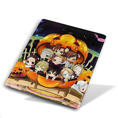Angela R Mathews Hetalia-Halloween Anime/Cartoon/Comic Print Book Cover PU Leather Notebook Cover Fits Most Hardcover Textbooks Up to 9'' X 11'' Inch Journals, Books, and Sketch Book