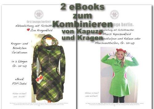 Zoe&Mausi Nähanleitung mit Schnittmuster auf CD für Kapuzen & Kragen ...