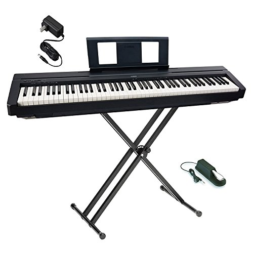 yamaha p45b digital piano with single x keyboard stand. Black Bedroom Furniture Sets. Home Design Ideas