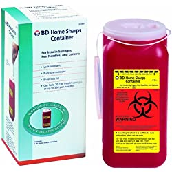 Bd Sharps Container 1.4 Quart Home, 1 Count (Pack of 12)