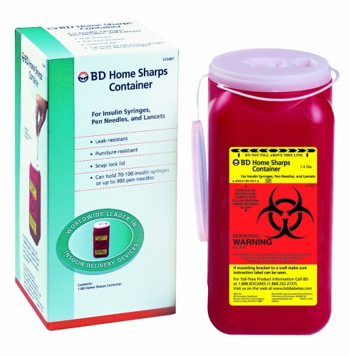 Bd Sharps Container 1.4 Quart Home, 5.44 Packages 12-Count by BD