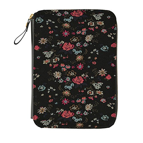 Hobonichi Techo Cousin - Antipast: Flower Rug (Black) Set (Japanese/A5/Jan 2018 Start) by Hobonichi Techo