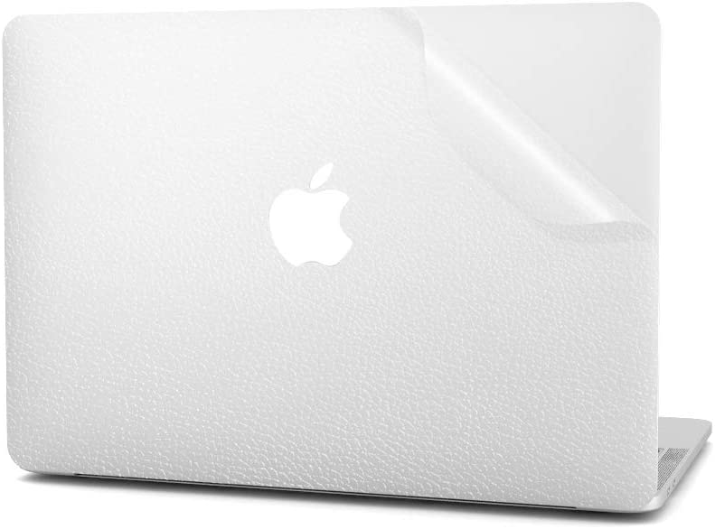Arisase Ultra Thin Decal Skin for 2020 MacBook Pro 13-Inch A2338 M1 A2289 A2251 Full Body Laptop Clear Leather Texture Sticker Cover Protective Skin with Upper Skin and Bottom Skin (Transparent)