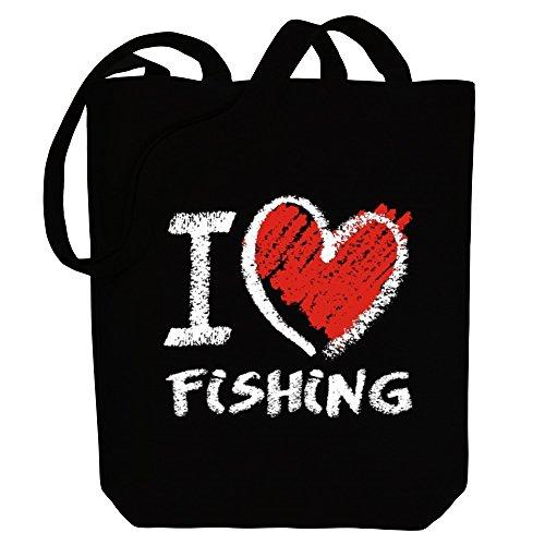 Bolsos Idakoos Tiza De Lona Encanta Pesca Me De El Estilo Deportes Pr8FPq