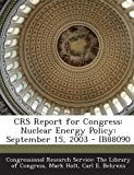 Crs Report for Congress, Mark Holt, 1295255499