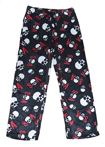 Sons Of Anarchy Mens' Skull Fleece Sleep Pants (Small)