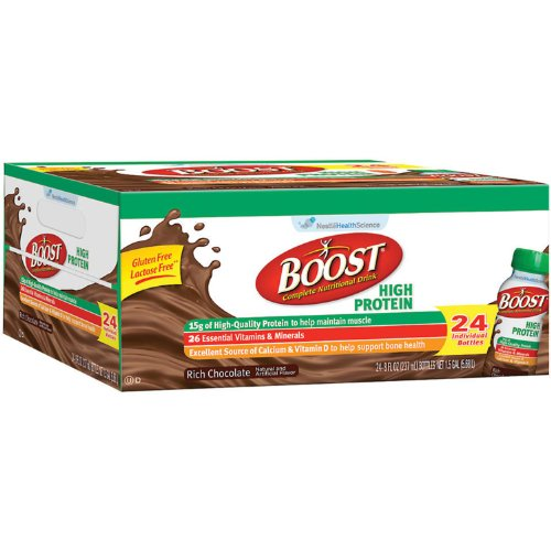 BOOST High Protein Drink, Chocolate (24 pk.) (pack of 6) by Boost