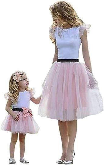 Loralie Vestidos Mujer Verano Falda Madre e Hija Vestido con ...