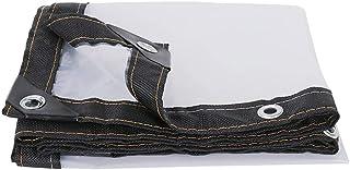 HRFHLHY Tissu Anti-Pluie Bord épaissi perforé Transparent en Tissu imperméable en Plastique imperméable à l'eau, Couverture de Protection de Fleur de Balcon de fenêtre,2x2m