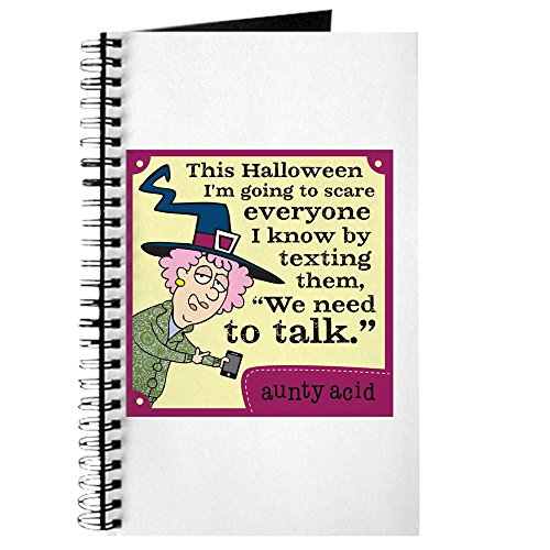 CafePress Aunty Acid: Halloween Text Spiral Bound Journal Notebook, Personal Diary, Dot Grid