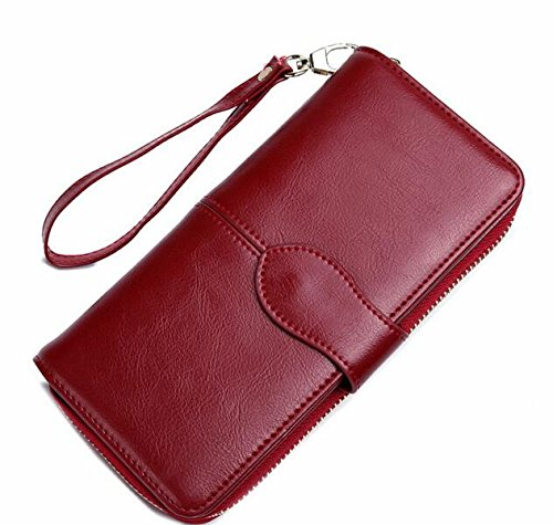 Diaper Gift Certificates (JD Million shop 2017 wallets women wallet dollar price leather purse high quality wallets brands purse female pouch (Wine red purse))