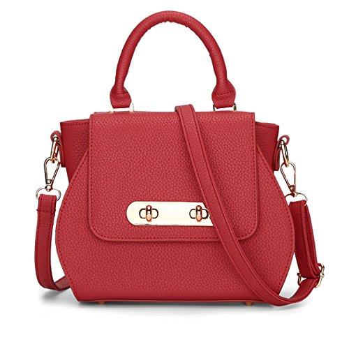 Valin - Bolso al hombro de Material Sintético para mujer One Size rojo
