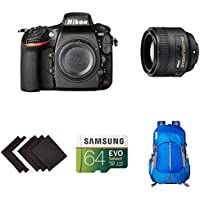 Nikon D810 FX-format Digital SLR Portrait Photography Lens Kit w/ AmazonBasics Accessories