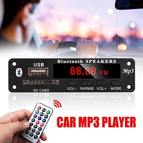 LISRUI Scheda Radio per decodificatore MP3 Durevole USB SD FM Player Car Bluetooth