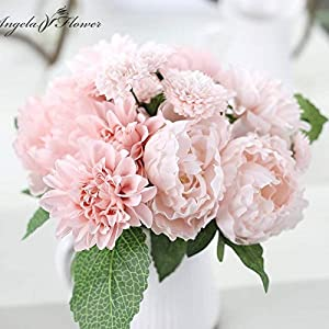 ShineBear Wedding Bride Hand Bouquet Rosemary Peony Flower Bouquet vivifying Flower Home Furnishing and Decorative Flower - (Color: B) 3
