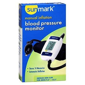 Amazon.com: sunmark Manual inflación, Blood Pressure Monitor ...