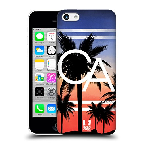 Head Case Designs California Città Della Moda Cover Retro Rigida per Apple iPhone 5c