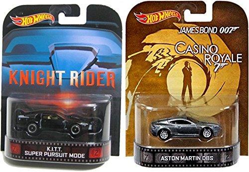 Hot Wheels Action Car Set Aston Martin Casino Royale & Knight Rider KITT Retro Entertainment Movie & TV Car Replica 2014