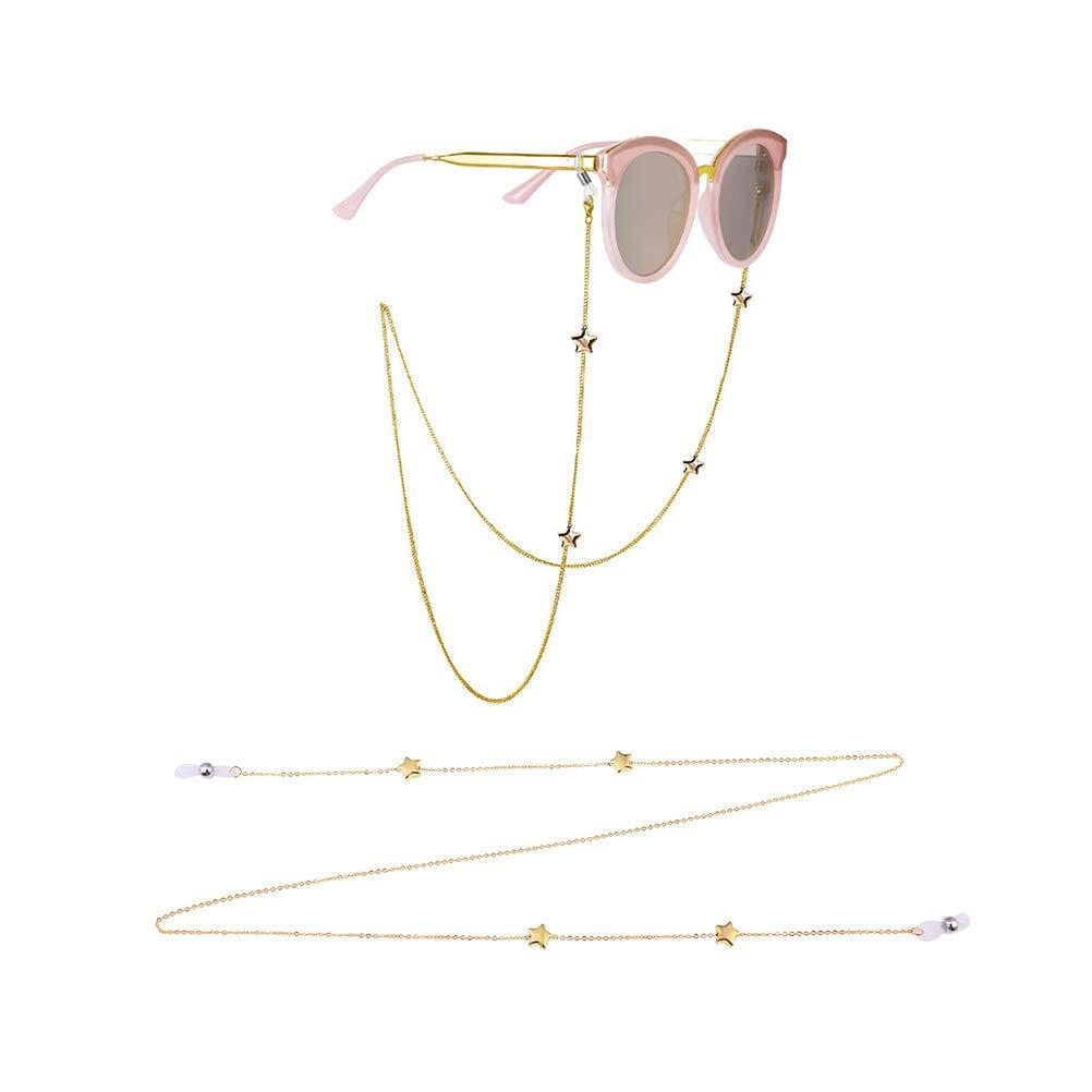 Fenical Star Eyeglasses Chain Glasses Cord Holder Occhiali da Sole per Donna
